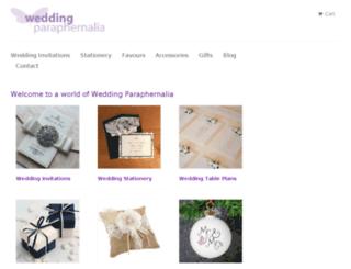 weddingparaphernalia.myshopify.com screenshot