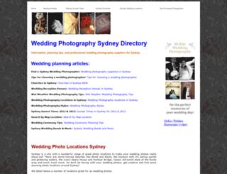 weddingphotographysydney.com.au screenshot
