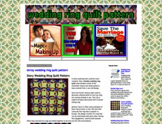 weddingringquiltpattern.blogspot.com screenshot