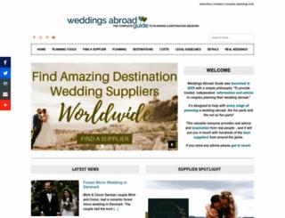 weddings-abroad-guide.com screenshot
