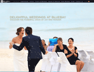 weddings.bluebayresorts.com screenshot