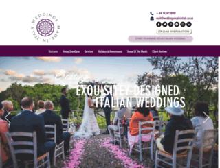 weddingsmadeinitaly.co.uk screenshot