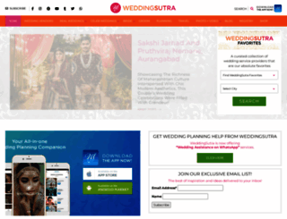 weddingsutra.com screenshot