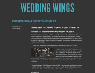 weddingwings.wordpress.com screenshot