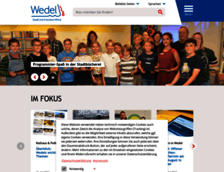 wedel.de screenshot