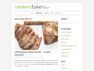 weekendbakery.com screenshot