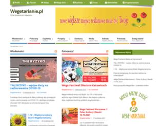 wegetarianie.pl screenshot
