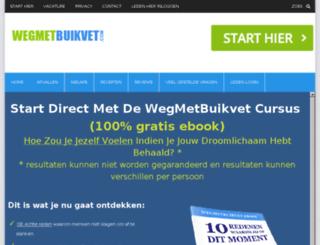 wegmetbuikvet.com screenshot