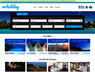 weholiday.co.uk screenshot