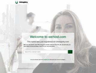 wehost.com screenshot