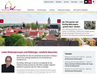wehringen.de screenshot