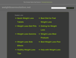 weightlossrevolution.net screenshot