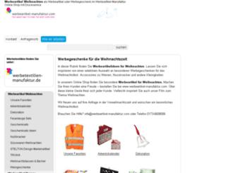 weihnachtswerbemittel.indavo-werbeartikel.de screenshot