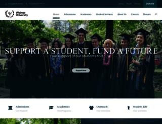 weimar.edu screenshot