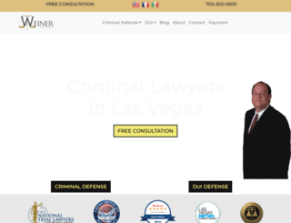 weinerlawnevada.com screenshot