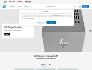 welcome.hp.com screenshot