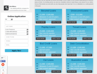 welcomefinanceloan.co.uk screenshot