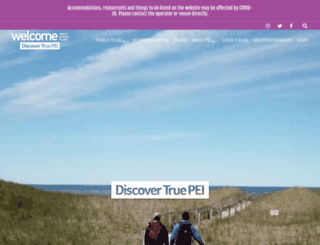 welcomepei.com screenshot