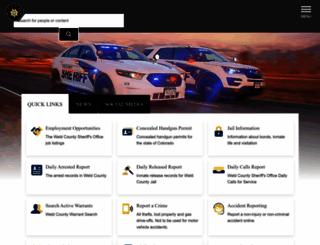 weldsheriff.com screenshot