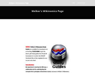 welkerswikinomics.wikifoundry.com screenshot