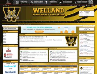 wellandminorhockey.com screenshot