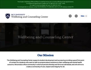 wellbeing.rice.edu screenshot