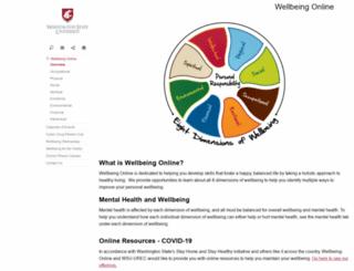 wellbeingonline.wsu.edu screenshot