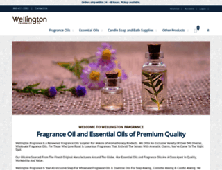 wellingtonfragrance.com screenshot