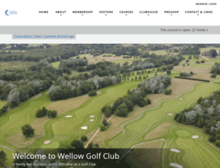 wellowgolfclub.co.uk screenshot