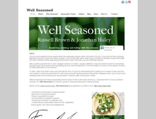 wellseasoned.co.uk screenshot