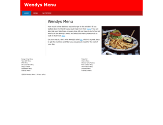 wendys-menu.com screenshot