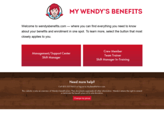 wendysbenefits.com screenshot