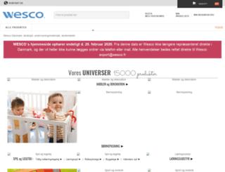 wesco-eshop.dk screenshot