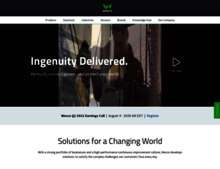 wesco.com screenshot