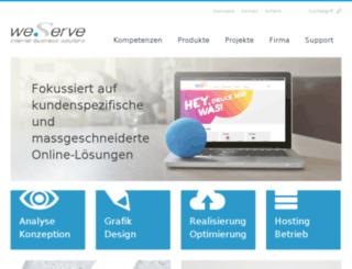 weserve.ch screenshot