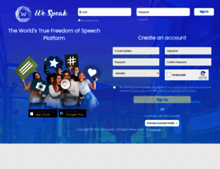 wespeak.com screenshot