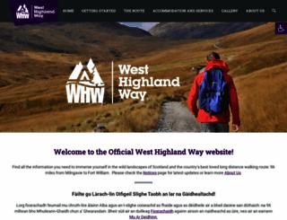 west-highland-way.co.uk screenshot