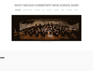 westchicagohsband.weebly.com screenshot