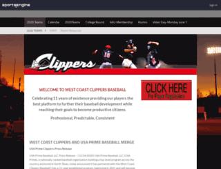 westcoastclippers.org screenshot