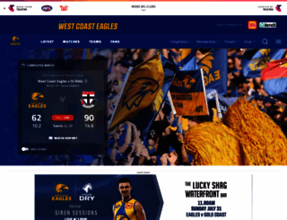 westcoasteagles.com.au screenshot