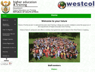 westcol.co.za screenshot