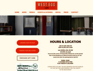 westeggcafe.com screenshot