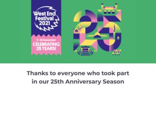 westendfestival.co.uk screenshot