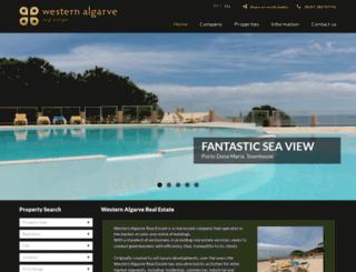 westernalgarverealestate.com screenshot