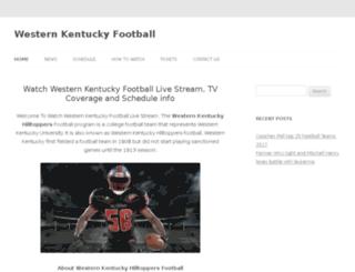 westernkentuckyfootballlive.com screenshot