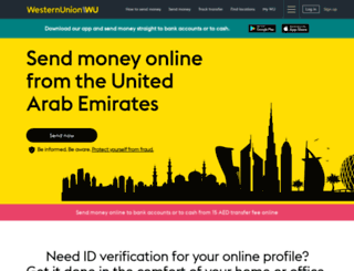 westernunion.ae screenshot