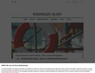 westfalenblatt.de screenshot