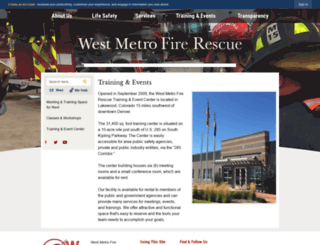 westmetrofiretrainingcenter.org screenshot