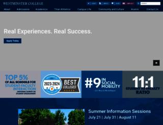 westminster.edu screenshot