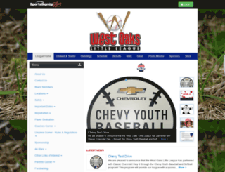 westoakslittleleague.siplay.com screenshot